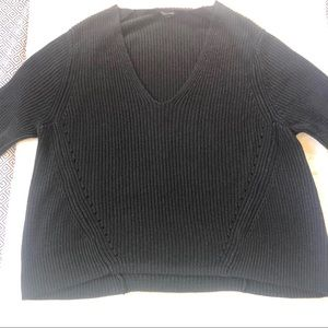 Olivaceous Women's Oversized Small Black Sweater.